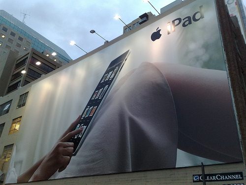 iPad billboard advertisement