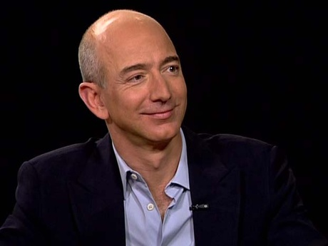 Amazon CEO Jeff Bezos being interviewed by Charlie rose.