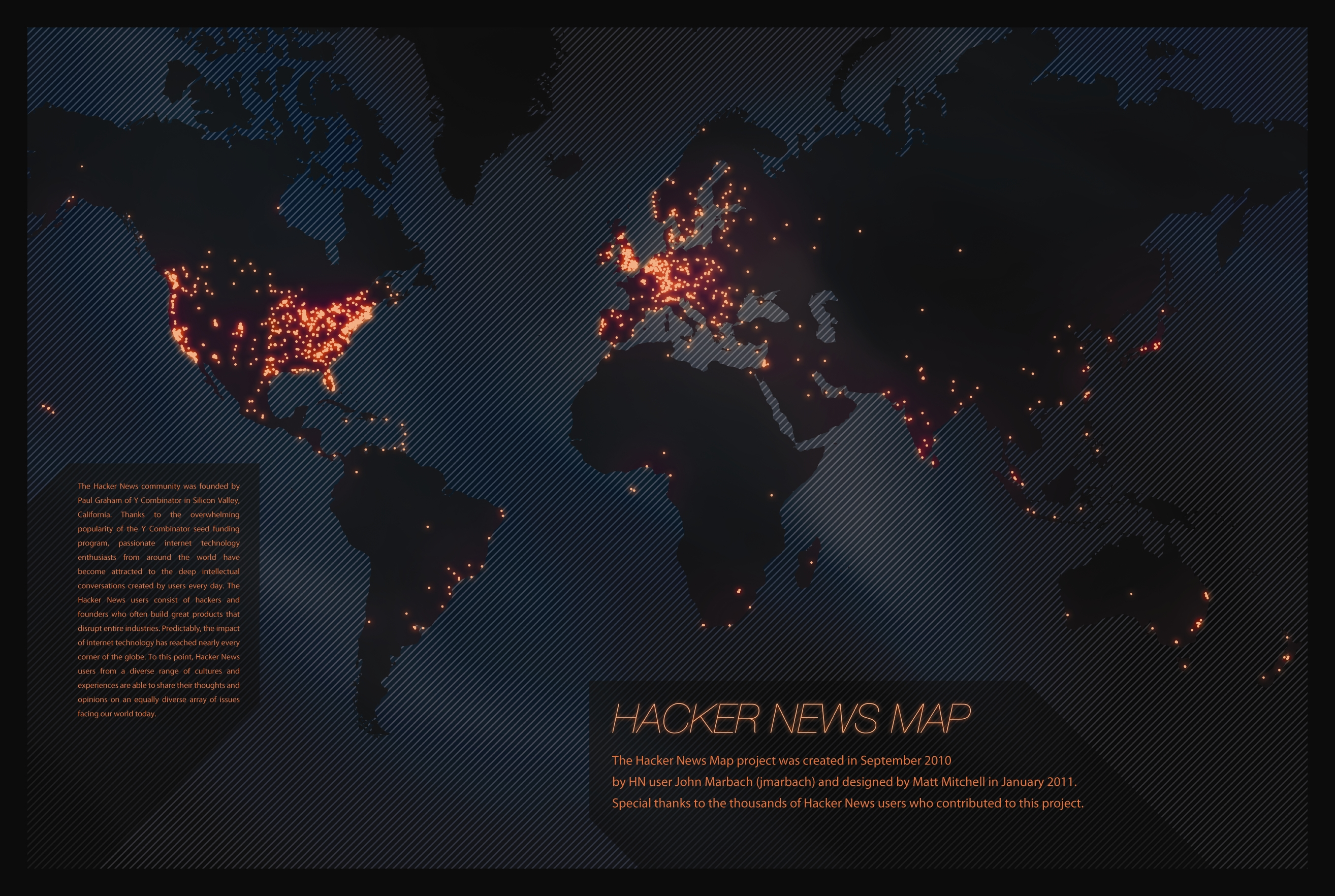 The hacker map jmarbach hacker news map gumiabroncs Image collections